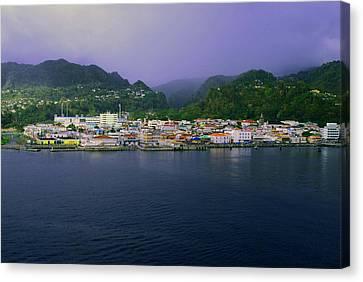 Roseau Dominica Canvas Print by Gary Wonning
