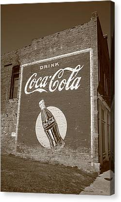 Route 66 - Coca Cola Ghost Mural Canvas Print by Frank Romeo