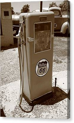 Route 66 Gas Pump Canvas Print by Frank Romeo