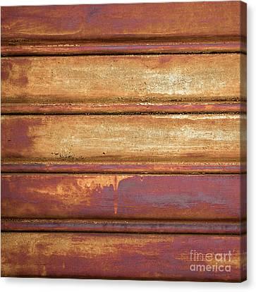 Metallic Sheets Canvas Print - Rusty Metal Background by Germano Poli