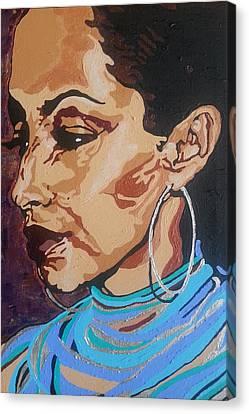 Sade Adu Canvas Print by Rachel Natalie Rawlins