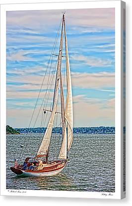 Canvas Print featuring the photograph Sailing Maine by Richard Bean