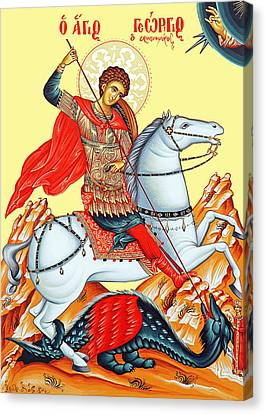 Russian Icon Canvas Print - Saint George by Munir Alawi