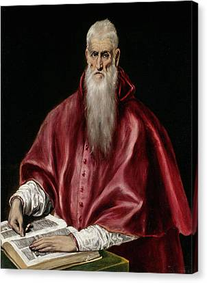 Saint Jerome As Scholar Canvas Print