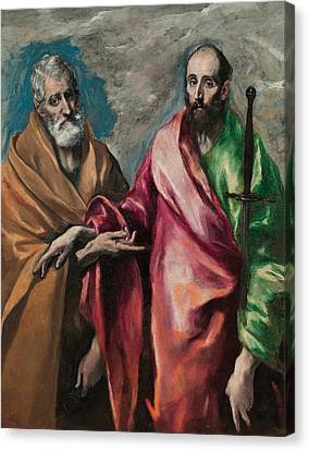 Saint Peter And Saint Paul Canvas Print by El Greco