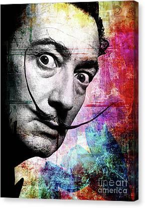 Salvador Dali Canvas Print by Mark Ashkenazi