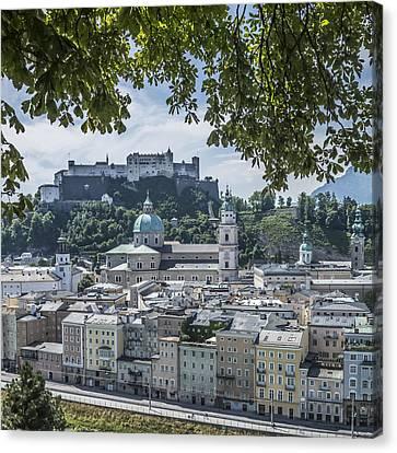 Salzburg Gorgeous Old Town  Canvas Print by Melanie Viola