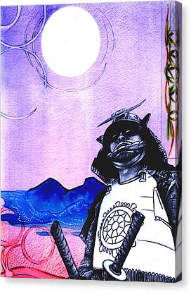 Samurai  Art For Seven Card Samurai Canvas Print by Chris Montecalvo