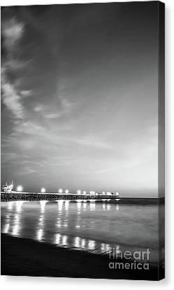 San Clemente Canvas Print - San Clemente Pier Black And White Picture by Paul Velgos