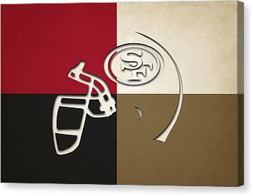 San Francisco 49ers Helmet Canvas Print by Joe Hamilton