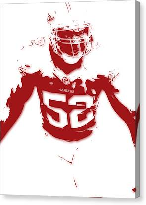 San Francisco 49ers Patrick Willis Canvas Print by Joe Hamilton