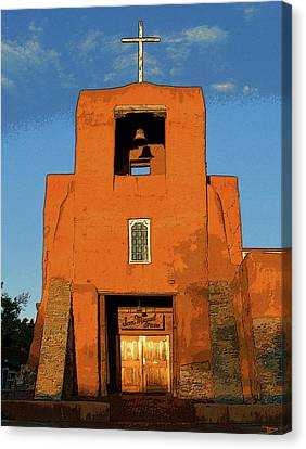 San Miguel Mission Church Canvas Print by David Lee Thompson