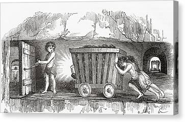 Drawers Canvas Print - Scene Inside An English Coal Mine by Vintage Design Pics