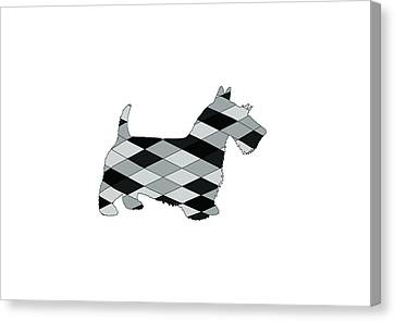 Scottish Dog Canvas Print - Scottish Terrier by Steph J Marten