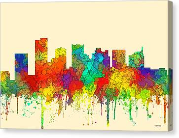 Scottsdale Arizona Skyline Canvas Print by Marlene Watson