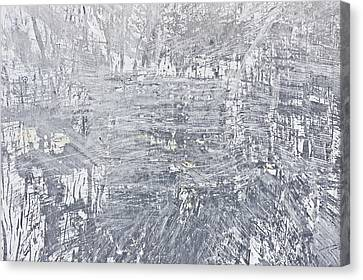 Scratched Metal Canvas Print by Tom Gowanlock