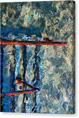 Sea. Rusty Iron And Shock Wave. Canvas Print by Andy Za