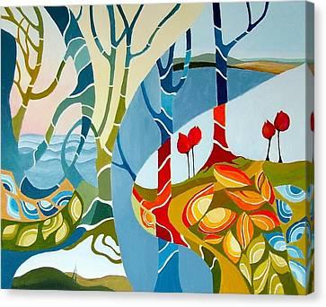 Seasons Of Creation Canvas Print by Carola Ann-Margret Forsberg