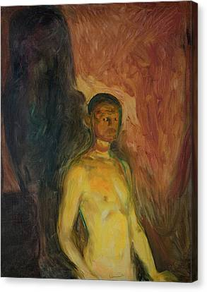 Munch Canvas Print - Self-portrait In Hell by Edvard Munch
