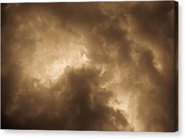 Sepia Clouds Canvas Print