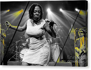 Sharon Jones And The Dap-kings Collection Canvas Print by Marvin Blaine