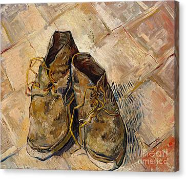 Untidy Canvas Print - Shoes, 1888 by Vincent Van Gogh