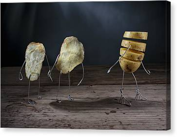 Simple Things - Potatoes Canvas Print by Nailia Schwarz