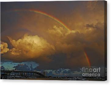 Canvas Print featuring the photograph 2- Singer Island Stormbow by Rainbows