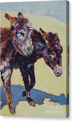 Donkey Canvas Print - 2 Sisters by Patricia A Griffin