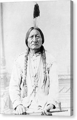 Sitting Bull, Lakota Tribal Chief Canvas Print by Science Source