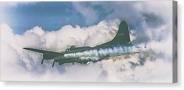 Jet Set Canvas Print - Smoke On by Martin Newman