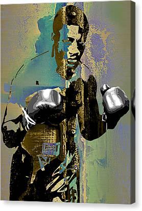 Smokin Joe Frazier Collection Canvas Print by Marvin Blaine