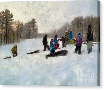 Snow Day Canvas Print by Claire Bull