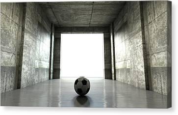 Soccer Ball Sports Stadium Tunnel Canvas Print