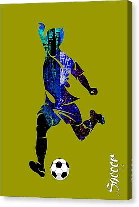 Soccer Collection Canvas Print