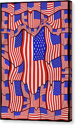 Soft American Flags  Canvas Print by Mike McGlothlen