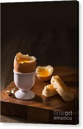Egg-cup Canvas Print - Soft Boiled Egg by Amanda Elwell