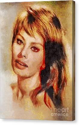 Sophia Loren, Vintage Hollywood Actress Canvas Print