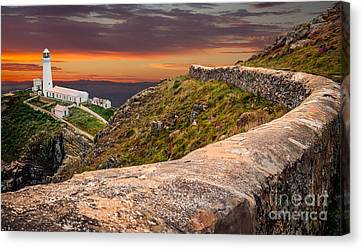 South Stack Lighthouse Canvas Print by Adrian Evans