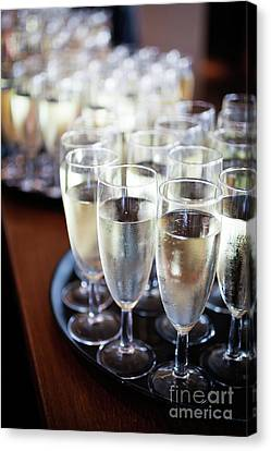 Buffet Canvas Print - Sparkling Wine by Kati Finell