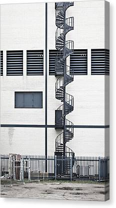 Fire Escape Canvas Print - Spiral Stairs by Tom Gowanlock