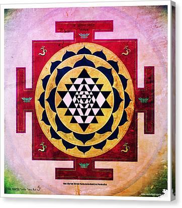 Sri Yantra Magic Canvas Print