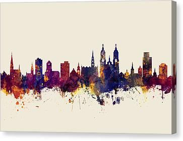 Switzerland Canvas Print - St Gallen Switzerland Skyline by Michael Tompsett