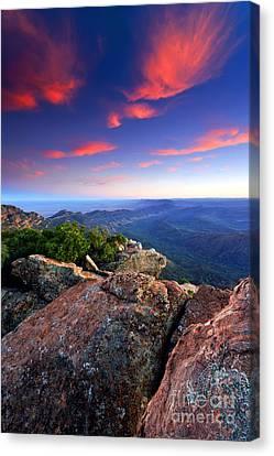 St Mary Peak Sunrise Canvas Print by Bill  Robinson