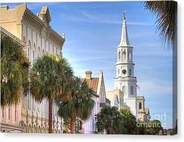 South Carolina Canvas Print - St Michaels Church Charleston Sc by Dustin K Ryan