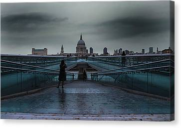 Wren Canvas Print - St Paul's Cathedral by Martin Newman