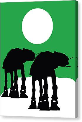 Star Wars At-at Collection Canvas Print by Marvin Blaine
