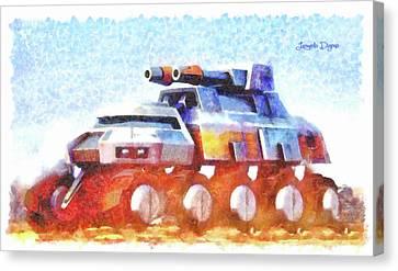 Star Wars Rebel Army Armor Vehicle Canvas Print by Leonardo Digenio