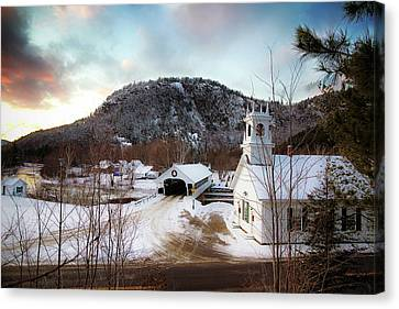 Canvas Print featuring the photograph Stark New Hampshire by Robert Clifford
