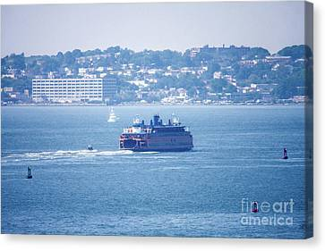 Staten Island Ferry Canvas Print by William Rogers